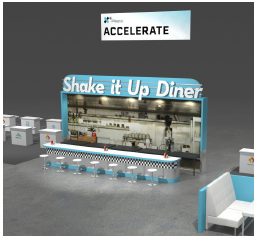 Rendering of AUVSI Accelerator and Shake it Up Diner at XPONENTIAL 2020