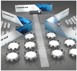 Rendering of Learning Lab at AUVSI XPONENTIAL 2020
